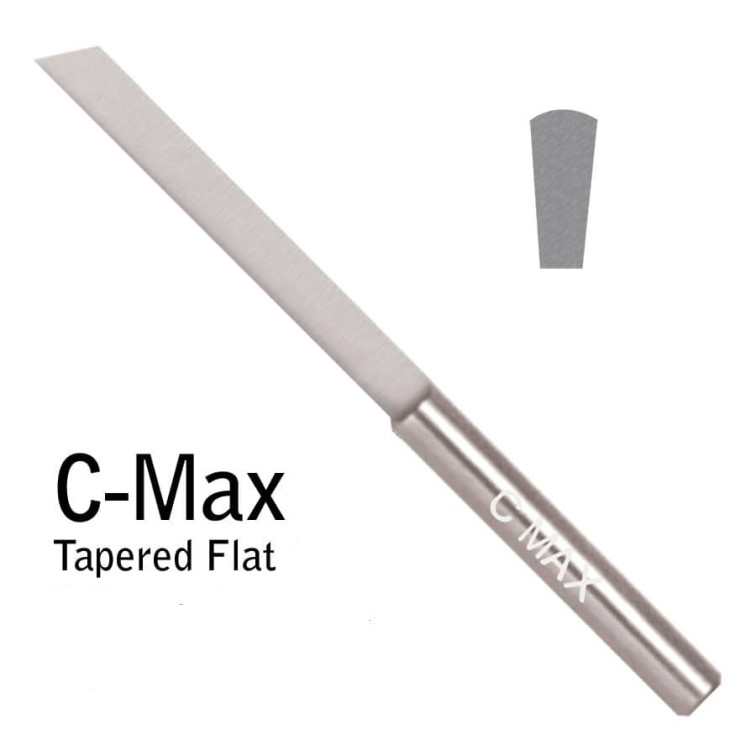 C-Max Carbide Tapered Flat Graver