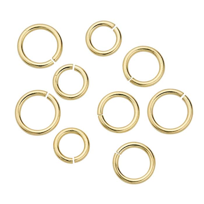 10K Yellow Gold Jump Rings
