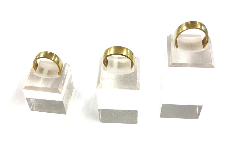 3-PC Acrylic Square Ring Set