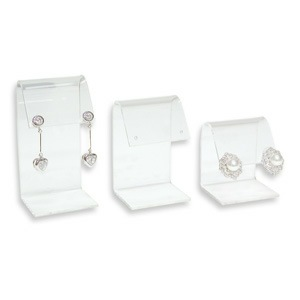 Curved Acrylic Earring Display Set - 3 Piece