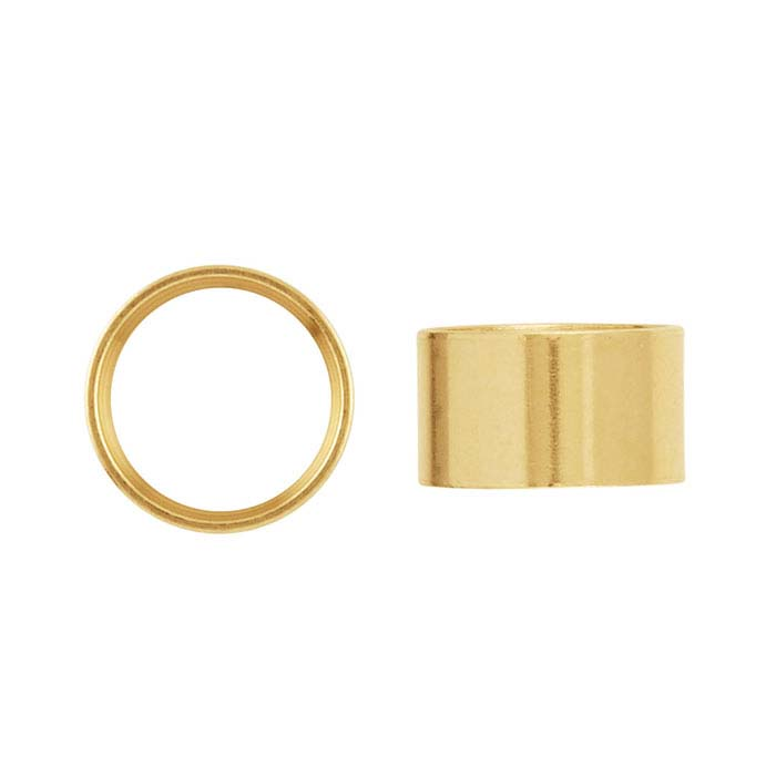 14K Gold Round Tube Settings
