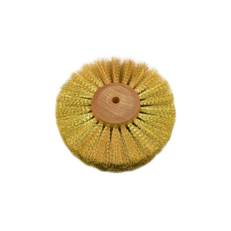 Crimped Brass Wire Wheel Brush