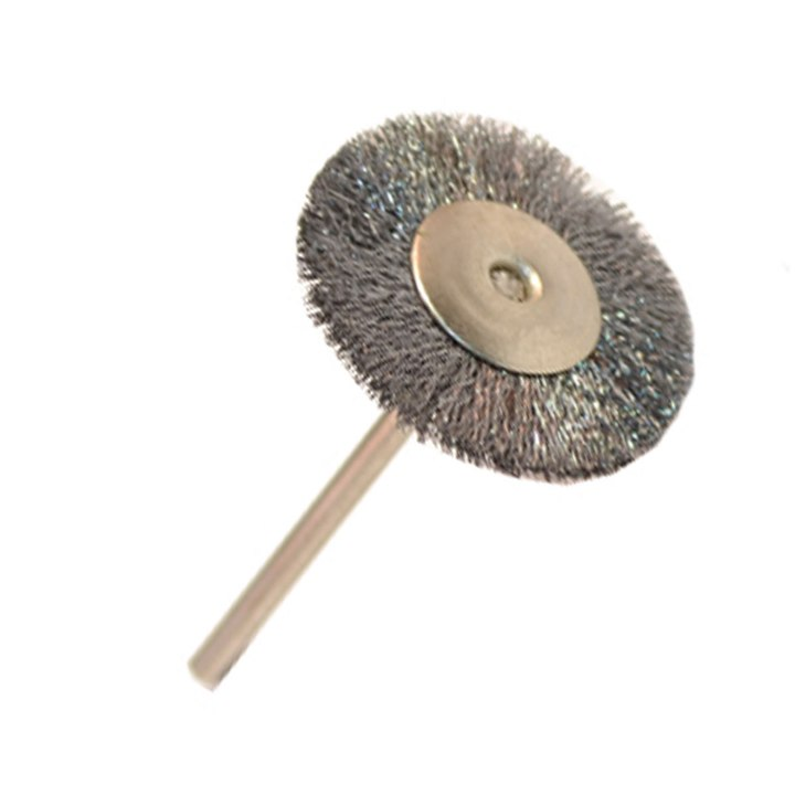 Crimped Steel Miniature Mtd Wheel Brush - Dozen Pack