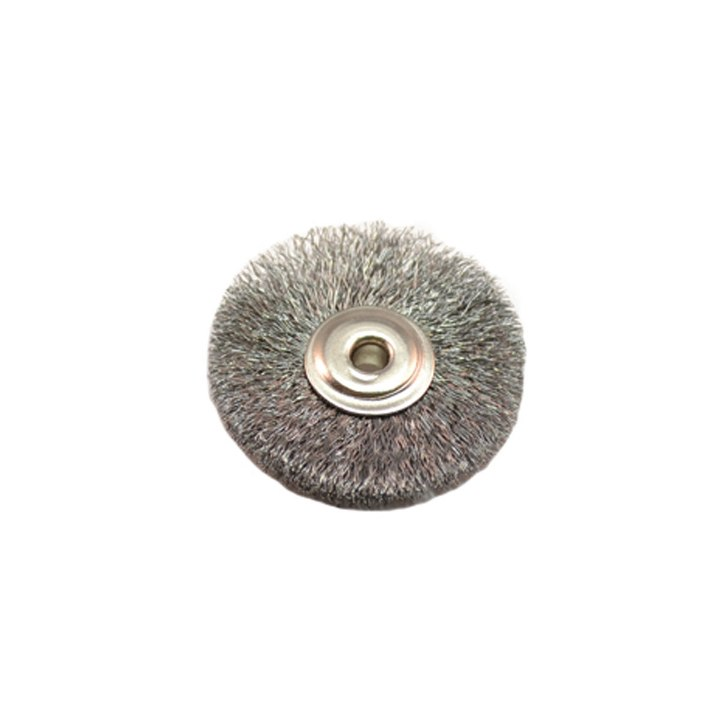 "Unmounted Crimped Steel Brushes - 1/8"" Arbor - Dozen Pack"