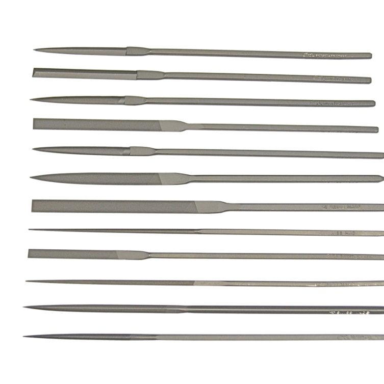 Set of 12 Assorted Grobet Escapement Files