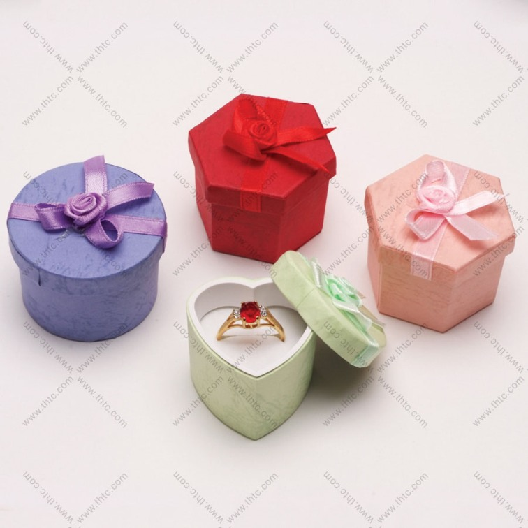 Assorted Pastel Hatboxes with Bow - Box of 48