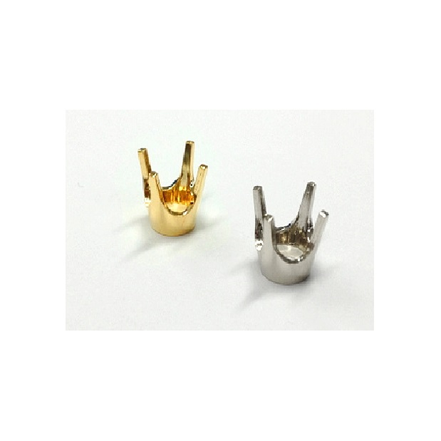 Four Prong Bellyhead Settings - 14K Gold