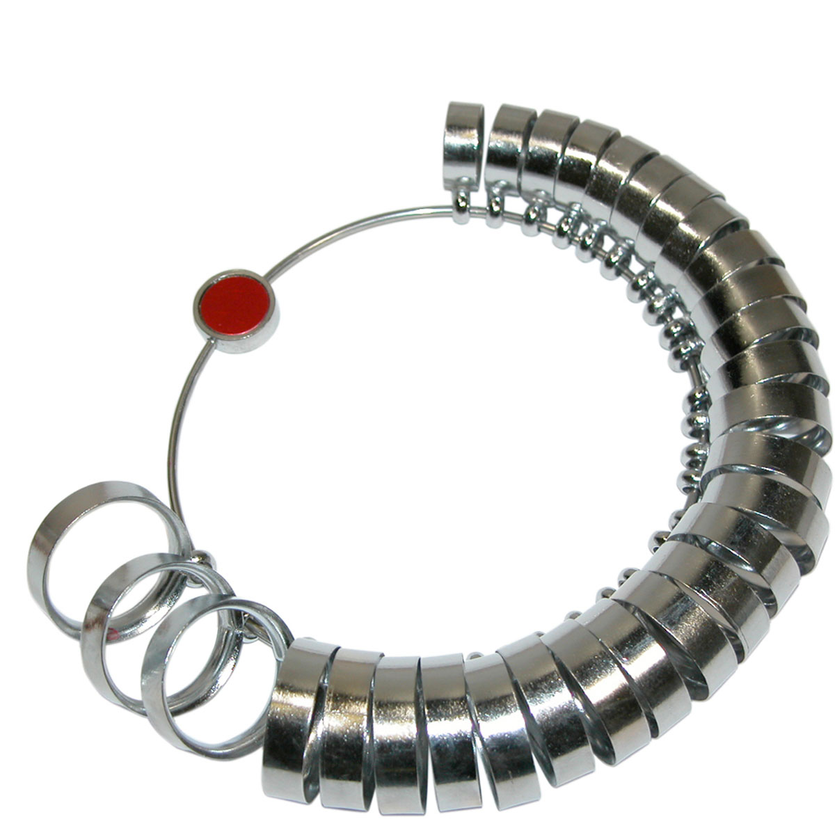 Metal Finger Ring Sizer - Extra-Wide - Sizes 1 to 15