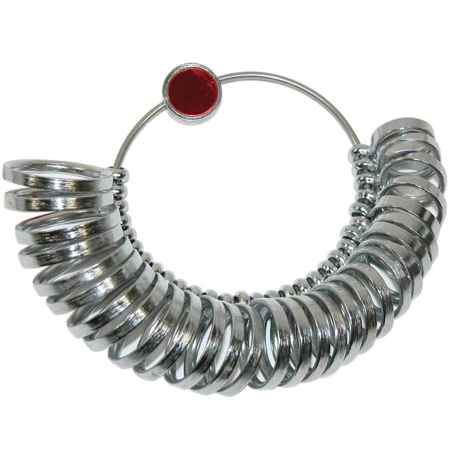 Metal Finger Ring Sizer - Regular - Sizes 1 to 15