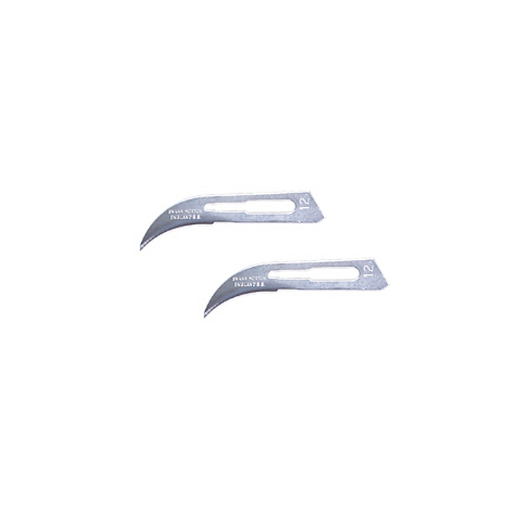 Curved Surgical Steel Blades
