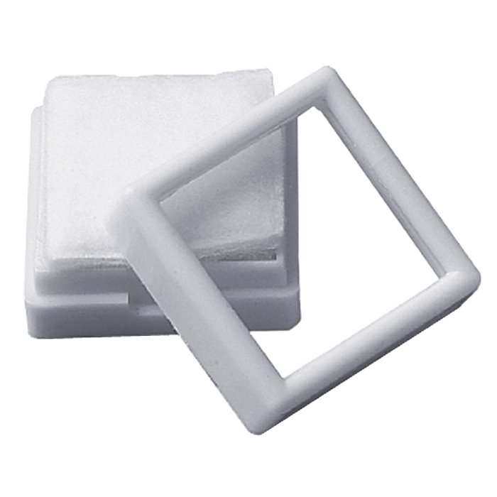"1 1/2"" Square White Gem Jar"