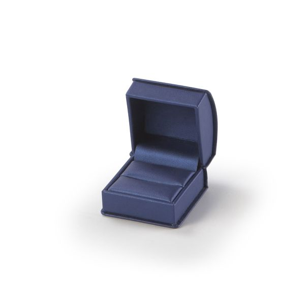 Navy Roll Top Ring Box
