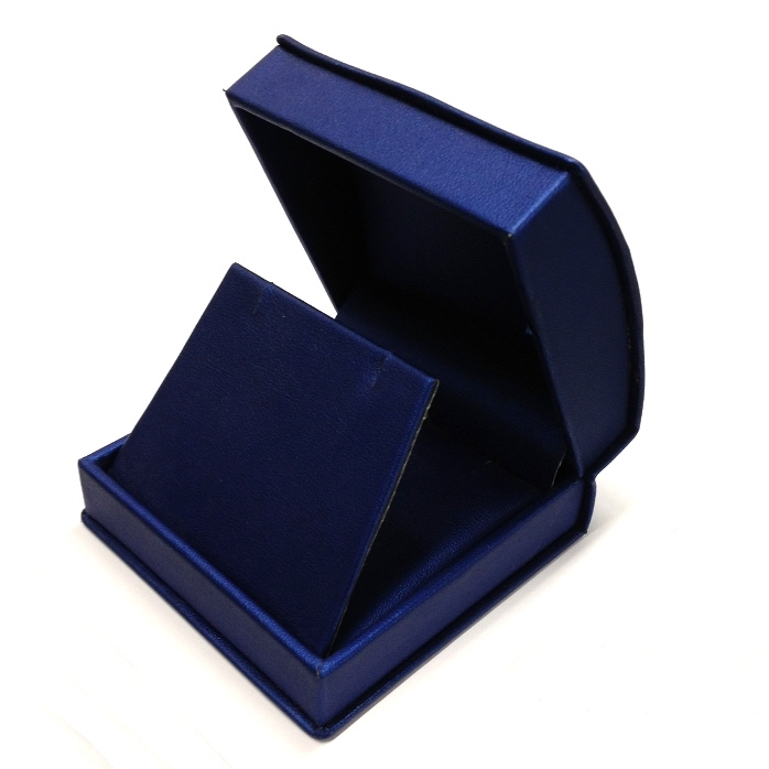 Navy Roll Top Large Earring/Pendant Box.