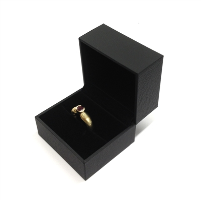 Black Stippled Single Ring Box - Click Image to Close