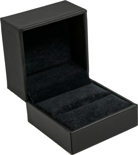 Black Stippled Single Ring Box