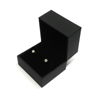 Black Stippled Earring Box