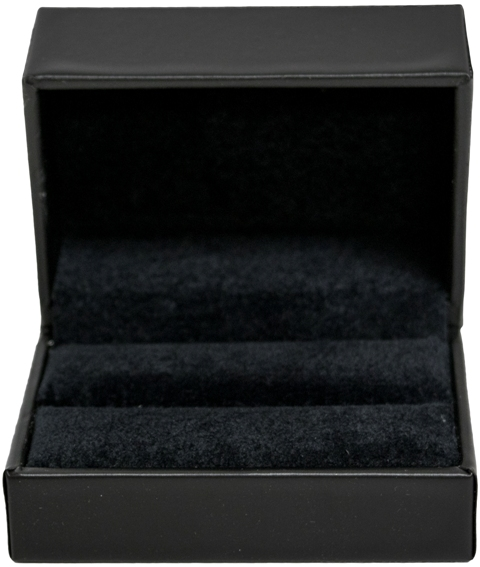 Black Stippled Double Ring Box