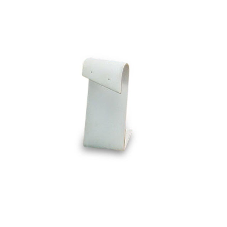 Tall White Leatherette Earring Stand