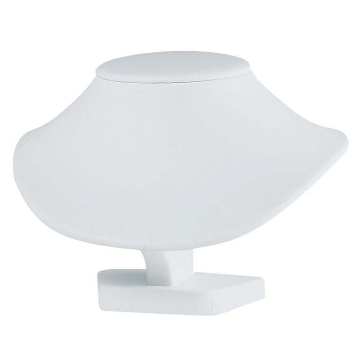 White Leatheretee Low Profile Neck Form
