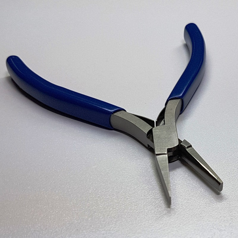 Half-Round and Flat Pliers - Blue Handle