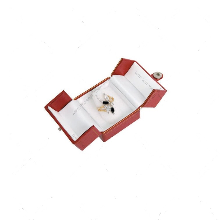 BF3 Red Cartier Style Double Door Finger Ring Box