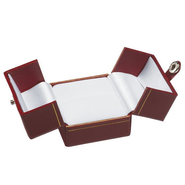 BR3 Red Deluxe Snap-Tab Ring Box