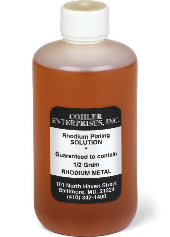 Cohler Black Rhodium Plating Bath - 1/2gram Solution
