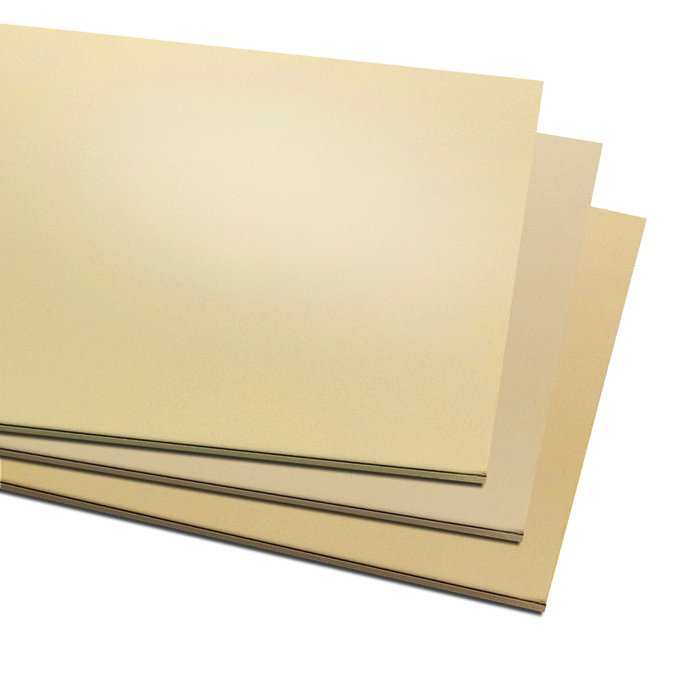 "24 GA (0.5mm thick) 12 x 12"" Brass Sheet"