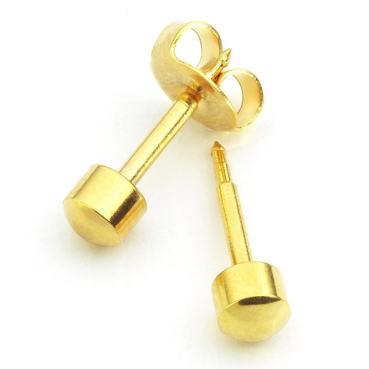 Caflon Plain Yellow Ball Studs