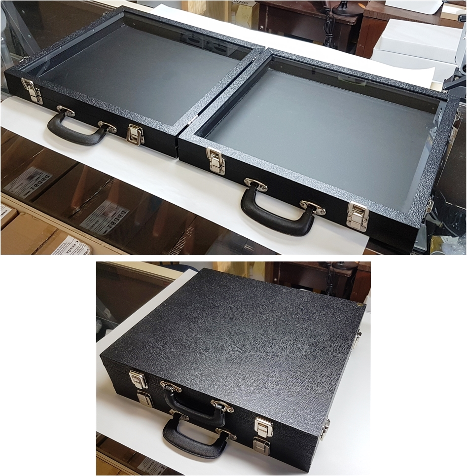 812 Double-Sided Case with Glass-top Panel