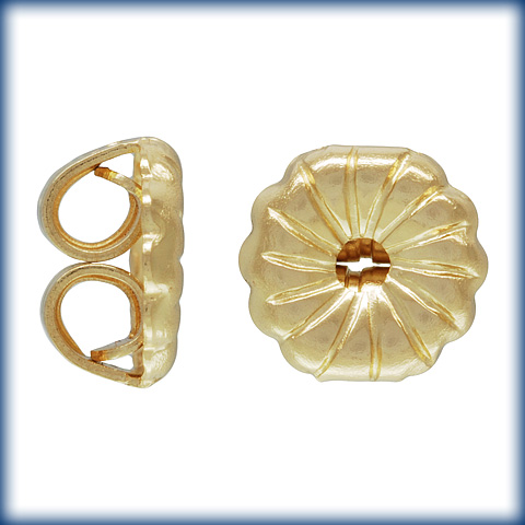14K Yellow Medium Earring Back