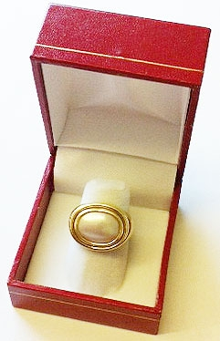 LF3 Red Cartier Style Finger Ring Box