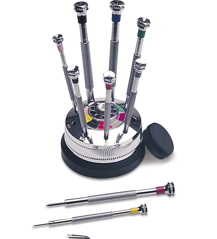 Premium Screwdriver Set on Rotating Base