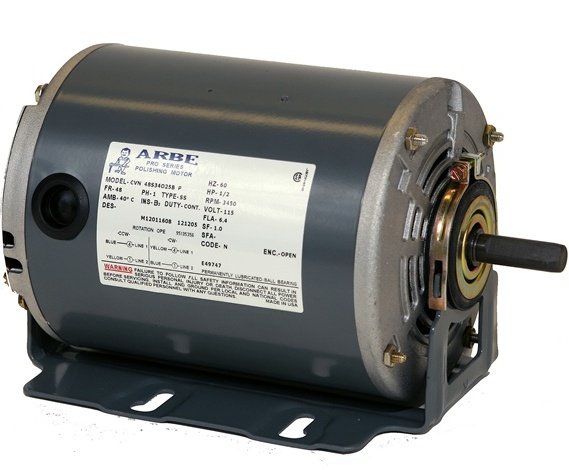 SS206001 ARBE 1/2HP Single Spindle Polishing Motor