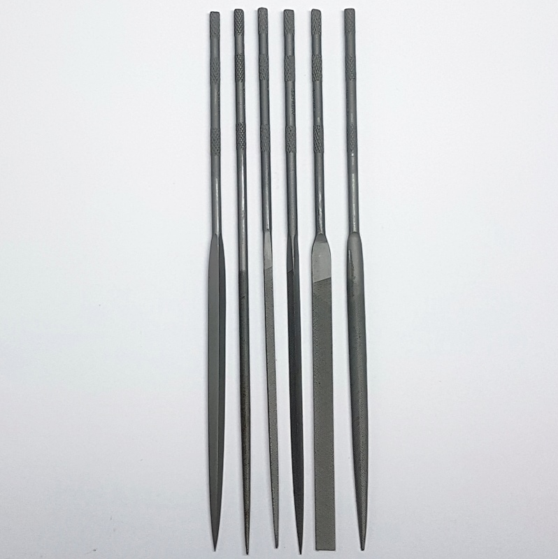 Set of 6 Swiss Vallorbe Needle Files - Cut 4
