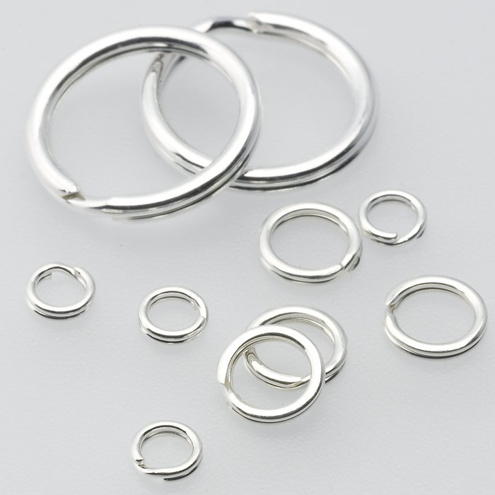 Sterling Silver Split Rings