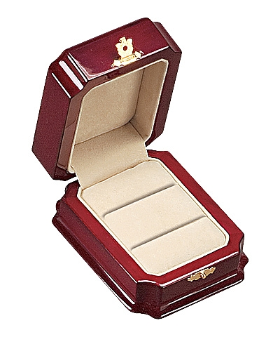 Royal Rosewood Double Ring Box