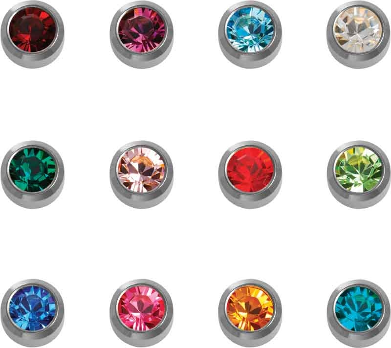 Caflon White Birthstone Assortment