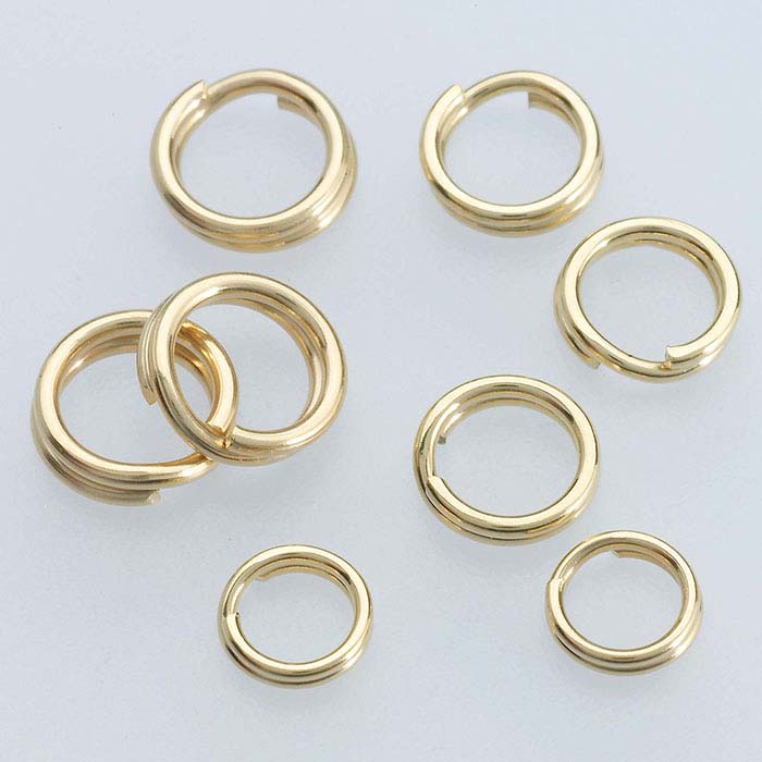 Yellow Gold Filled Split Rings