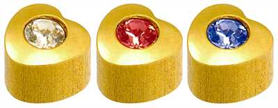 Caflon Yellow Assorted Heart Stones