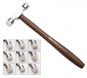 Nylon Tipped Forming Hammer with 9 Faces