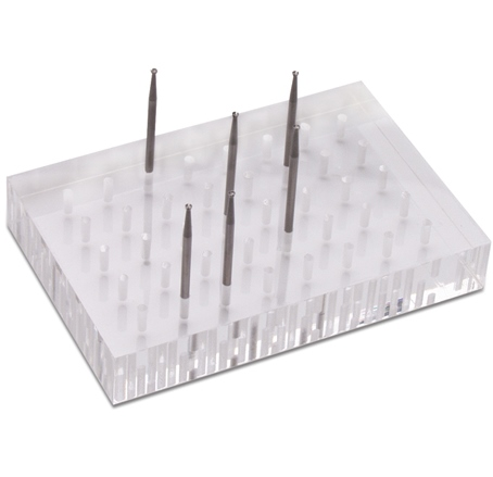 Lucite Bur and Accessories Block