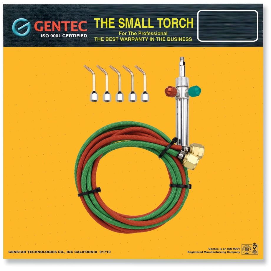 Gentec Small Torch Kit Curved Tips #3-7