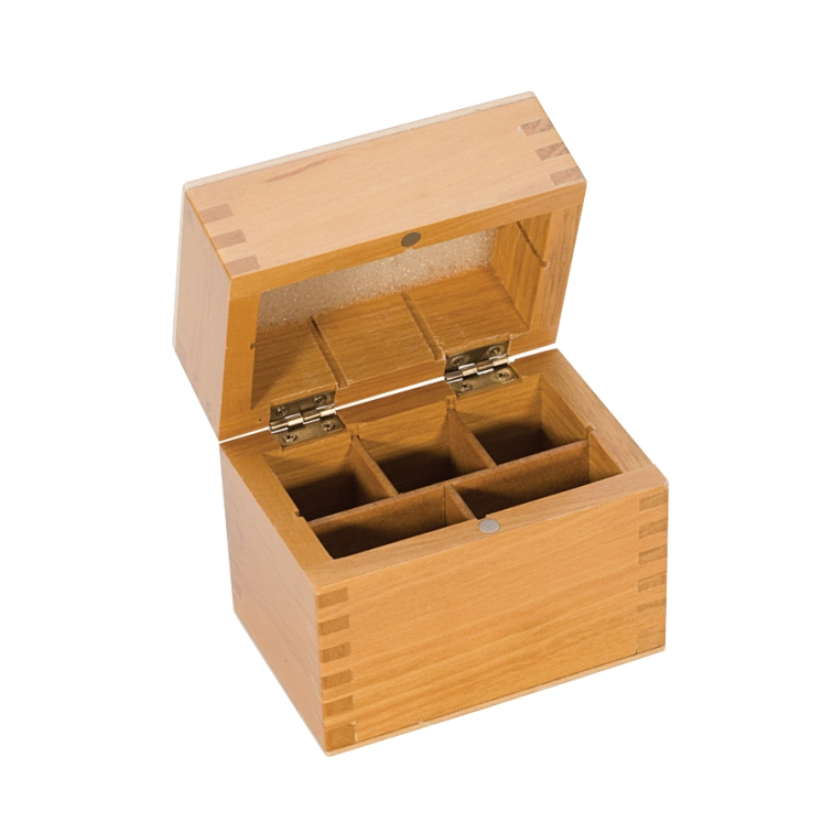 5-Compartment Wooden Box