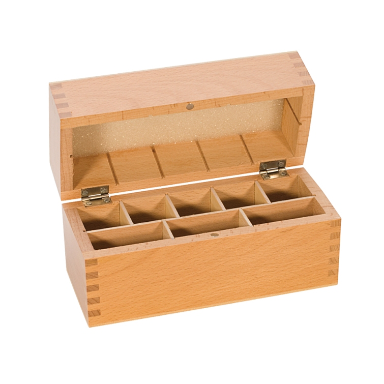 8-Compartment Wooden Box