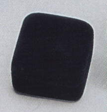 Soft Flocked Velour Ring Box - Black